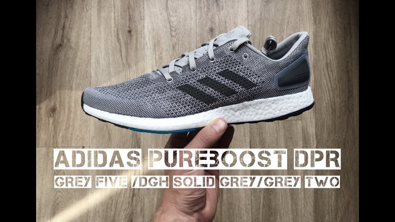 competitive price 8fb56 f106a Adidas PureBoost DPR Grey Five Dgh Solid Grey  UNBOXING  ON FEET  running  shoes  2017  HD