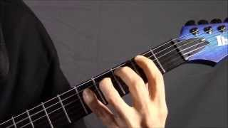 Technicalized Power Chords with TAB - 2nd & 4th Fingers Death Metal - Guitar Lesson 3