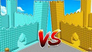 CASTILLO DE DIAMANTE VS CASTILLO DE ORO! 💰😱 MINECRAFT MAPA CONSTRUCCIONES CON MIKECRACK