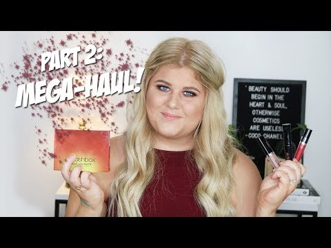 Del 2 av KICKS-MEGA-HAUL:ET! | KICKS Beauty, Smashbox, MAC, Linda Hallberg mfl.