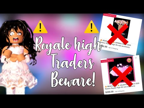 People Are Selling ROYALE HIGH HALOS For REAL LIFE MONEY ON EBAY?! | Royale High Traders Beware!
