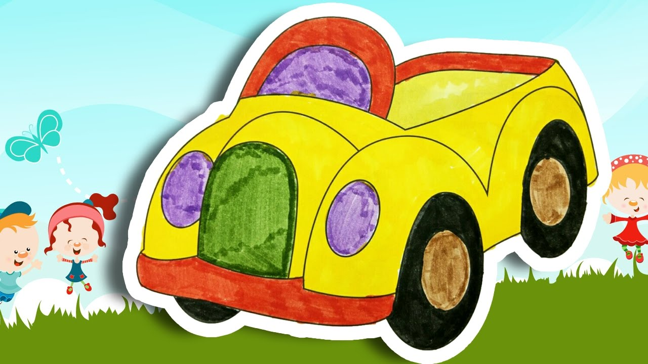 Coloring Toy Car | Coloring pages for kids | learning colors kids ...