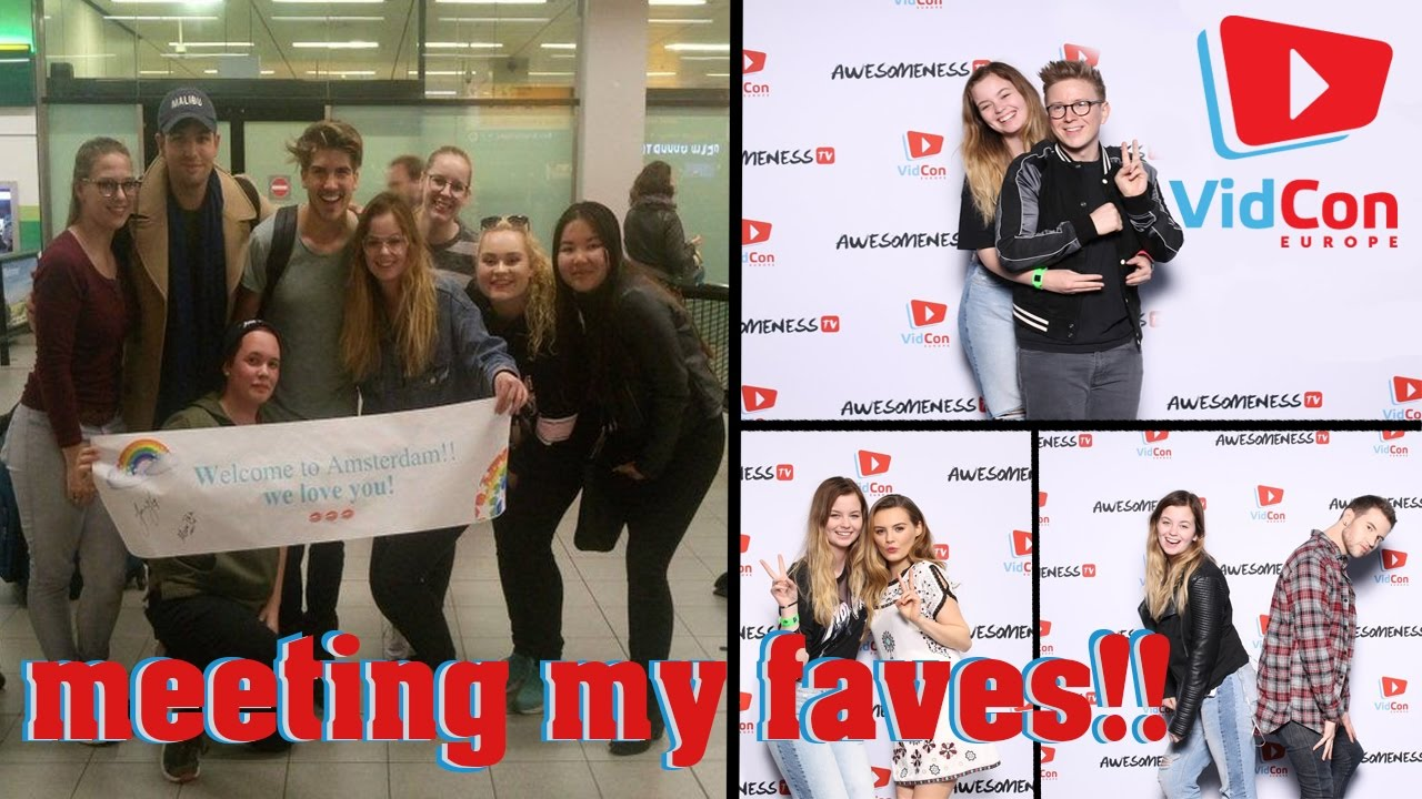 I MET TYLER OAKLEY, JOEY GRACEFFA AND MORE! - VIDCON ...