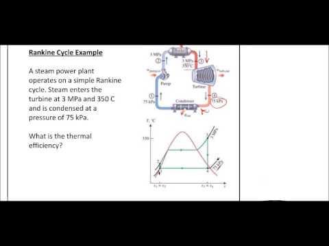 Thermodynamics - Rankine Cycle Example