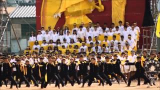 土佐中高等学校第66回運動会 応援合戦 Sホーム