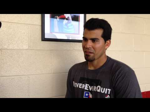 An interview with Rangers catcher Robinson Chirinos.