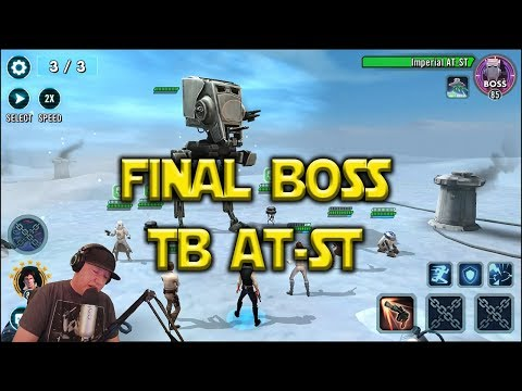Star Wars: Galaxy Of Heroes - Last Stage Final Boss Territory Battles AT-ST