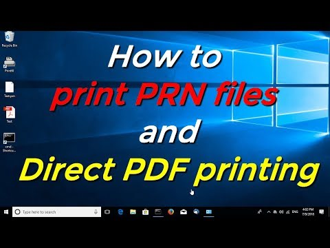 How To Print PRN Files And Direct PDF Printing