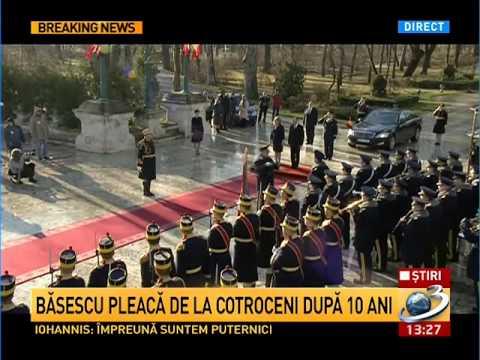 Traian Băsescu a părăsit Palatul Cotroceni ( HD )