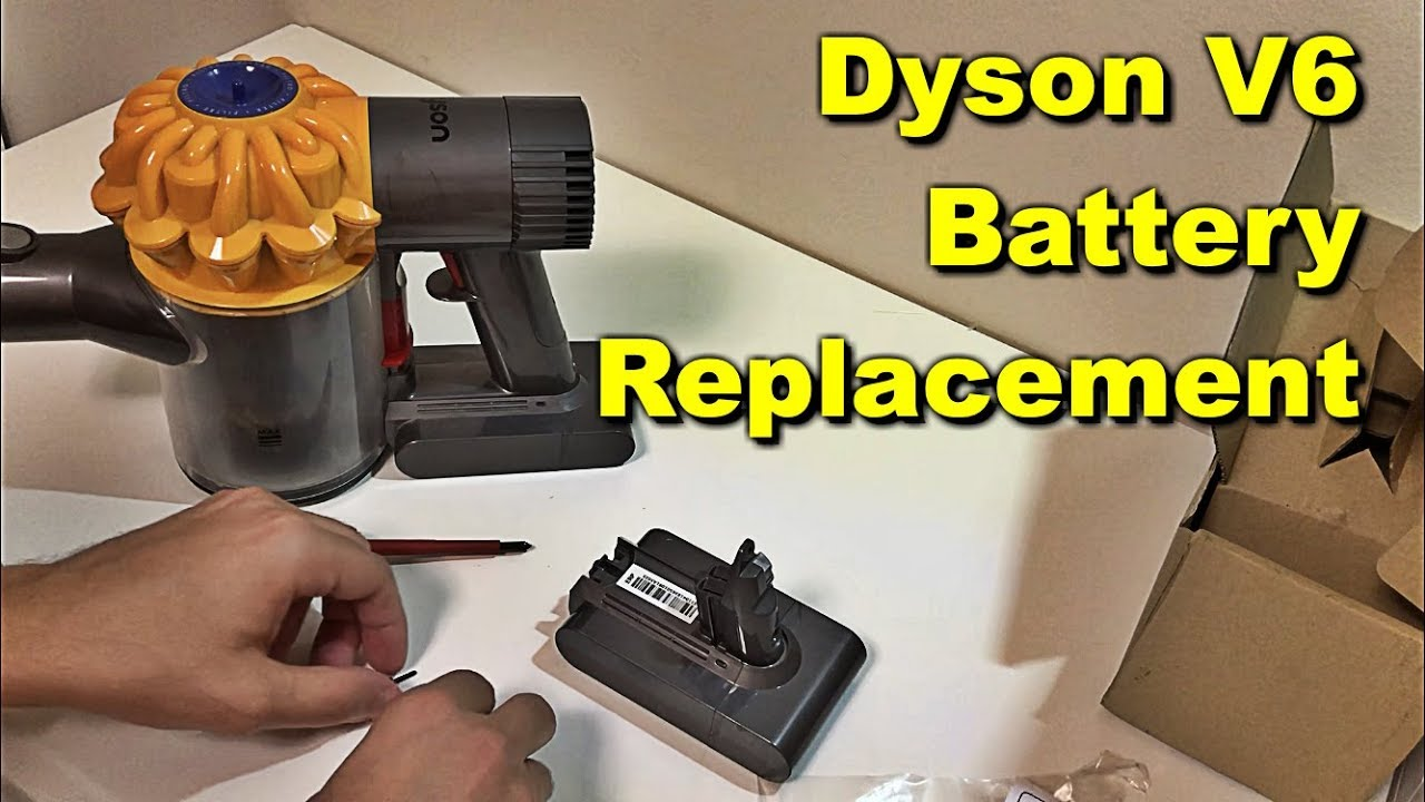Dyson V6 Flashing Red Light fix - Battery Replacement - Dyson V6 Slim and  Dyson V6 Animal