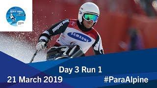 Slalom Run 1 | Day 3 | World Para Alpine Skiing World Cup | Morzine 2019