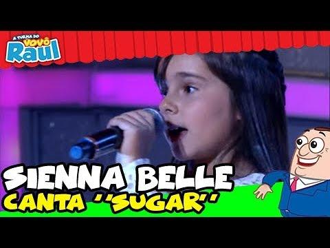 """SIENNA BELLE CANTA """"SUGAR"""" DA BANDA MAROON 5 NO PROGRAMA RAUL GIL"""