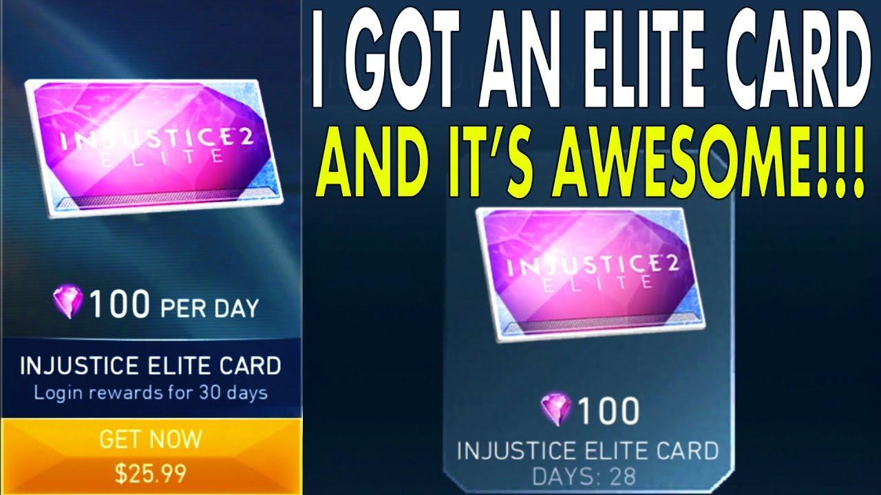 Injustice 2 Mobile  ELITE CARD - Best Way To Get Gems? How Injustice Elite  Card works