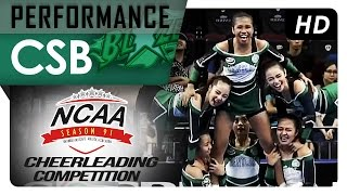 NCAA 91 Cheerleading Competition: CSB Blazers Pep Squad