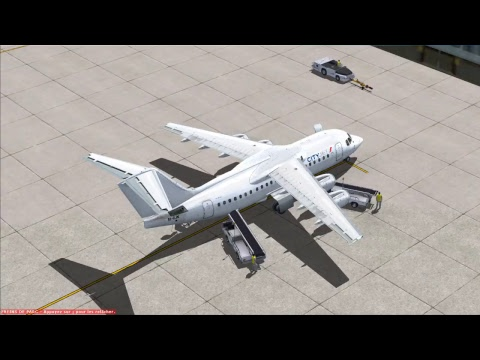 fsx flight LONDON CITY TO AMSTERDAM WITH BAE 146 CITYJET