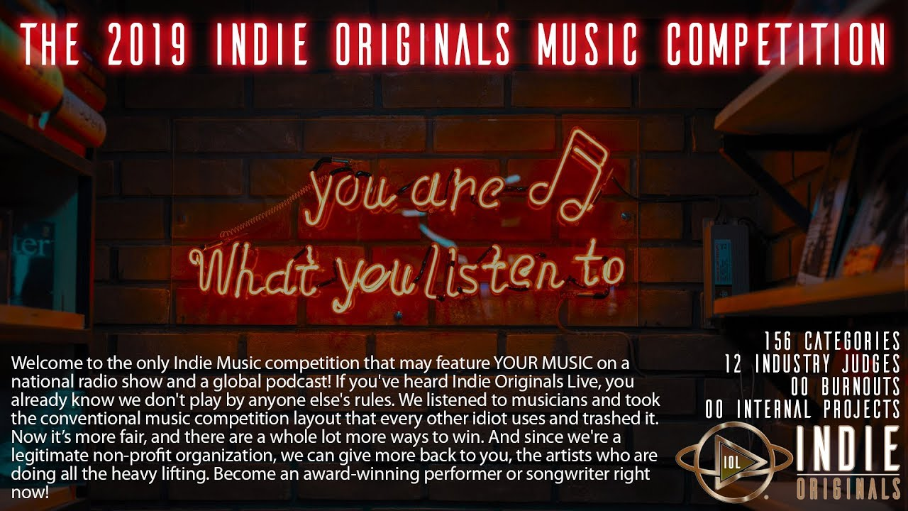 2019 INDIE ORIGINALS MUSIC COMPETITION WINNERS