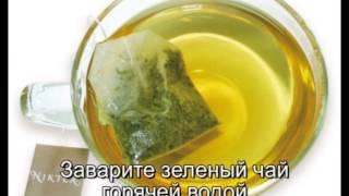 Маска для лица зелёный чай мёд и сахар