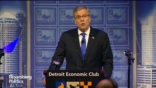 Jeb Bush Touts Conservative Credentials in Detroit Speech