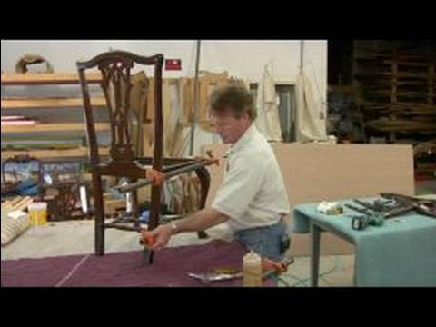 How to Glue a Wood Chair : How to Put a Disassembled Chair Back Together