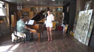 Юрий Розум и Анна Азерли на съёмке ТВ передачи о поездке на концерт в Монасо