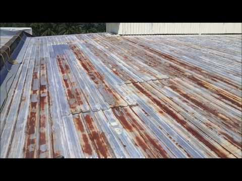Metal Roof Re Coating Malaysia Anti Rust Treatment Youtube