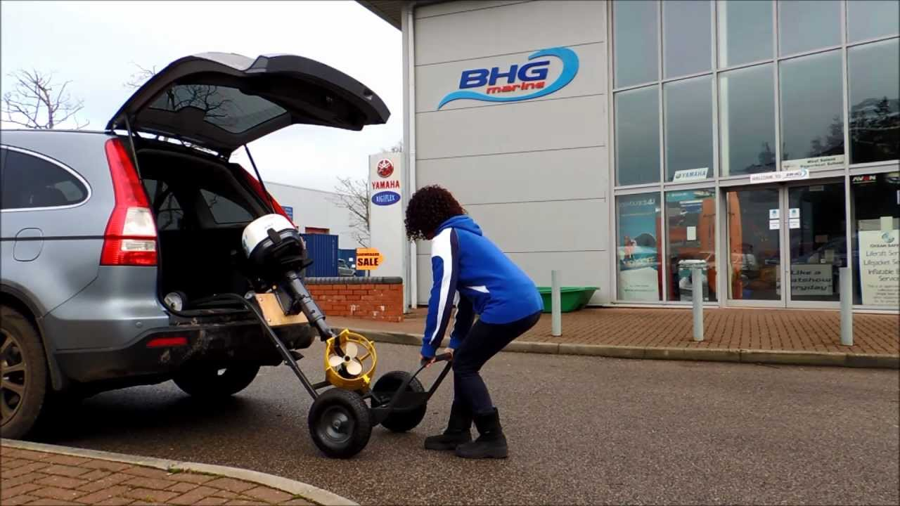 Easy Motor Toter Outboard Trolley From Bhg Marine Ltd Youtube