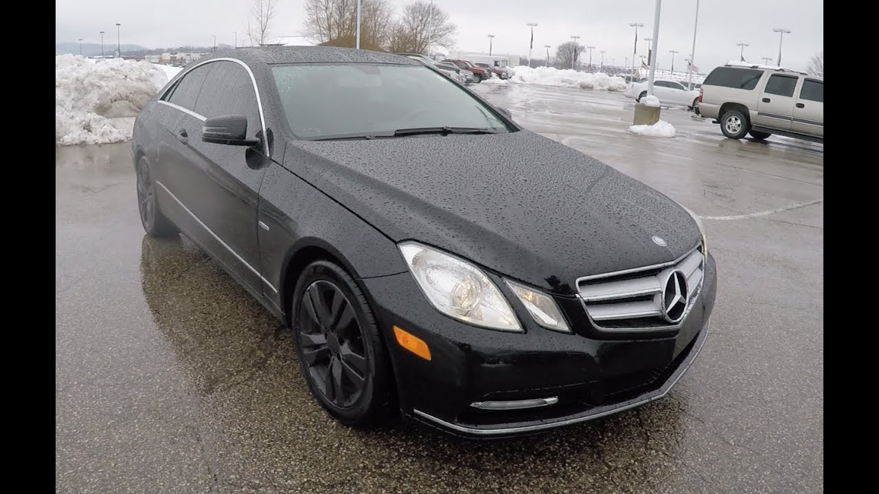 2012 Mercedes Benz E350 Coup Black  Sunroof  Luxury