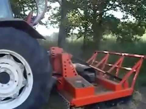 Desbrozadora Forestal De Dos Rotores Para Tractor Marca Talleres Romay Castro