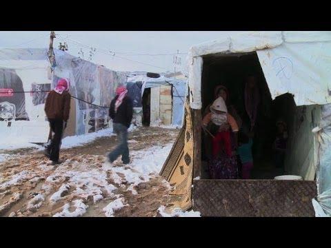 Les réfugiés syriens au Liban frappés par la pluie et la neige