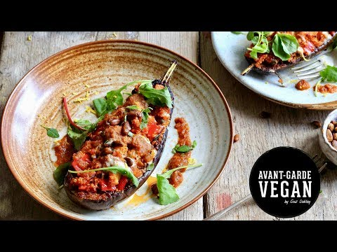 STUFFED EGGPLANT ����| @avantgardevegan by Gaz Oakley