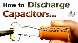 How to Discharge Capa¢itor safely with resistor