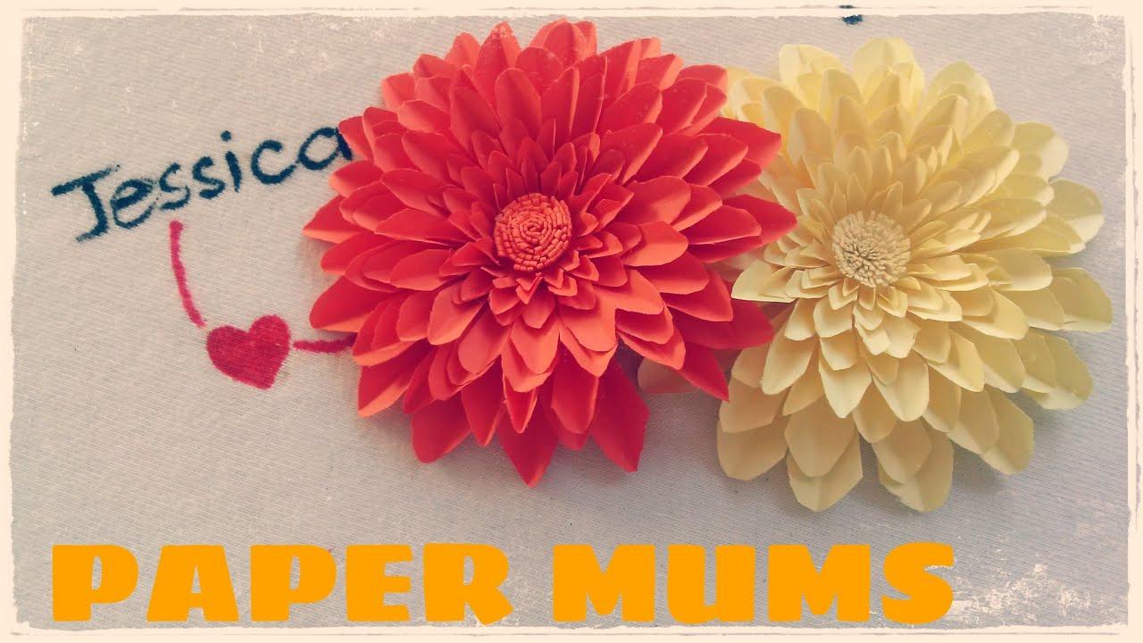 diy paper mums chrysanthemum tutorial