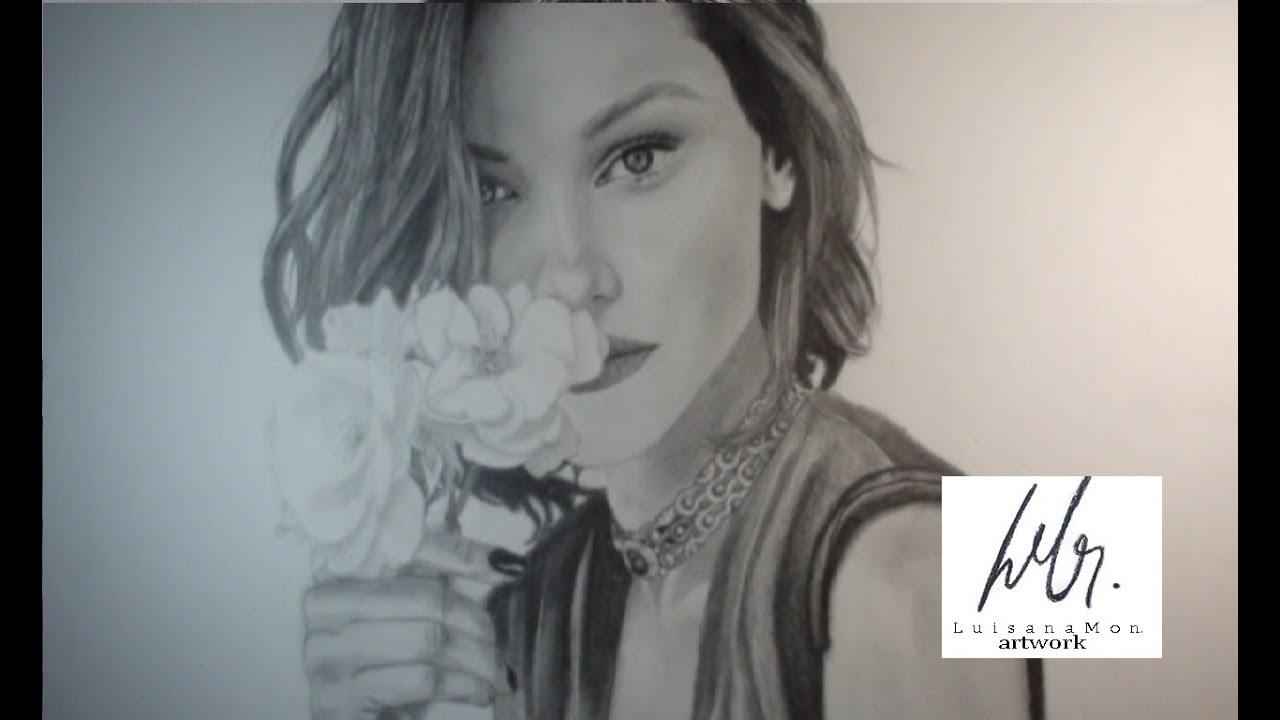 Bella Hadid Pencil Drawing