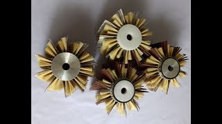 Wood Sanding Polishing Wheel Brush Sisal & Emery cloth Bristle Polishing Brush Wheel