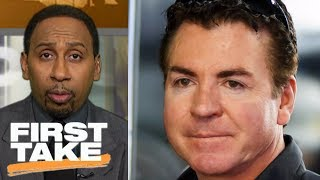 Stephen A. Smith thinks Papa John's CEO's NFL protest apology is 'bogus' | First Take | ESPN