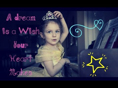❤ A Dream is a Wish Your Heart Makes - 3 year old sings and plays the piano - Disney Cinderella