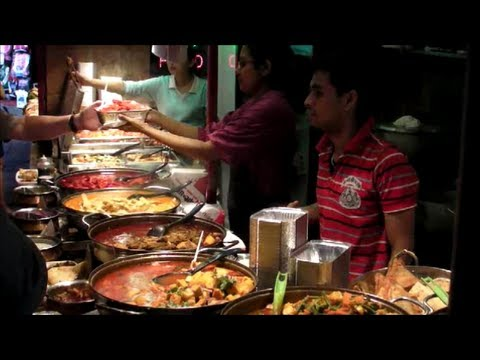 London Street Food. Indian Restaurant. Camden Town, Camden Market.