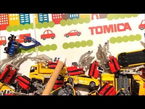 トミカ博のゲームトミカつりやルーレットトミカ組み立て工場子ども向けおもちゃ動画 ウピさん&upisch