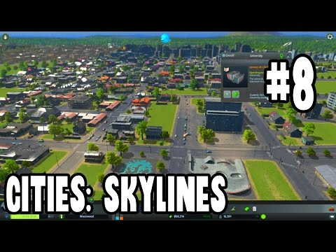 Cities: Skylines After Dark Gameplay | #8 - College Town