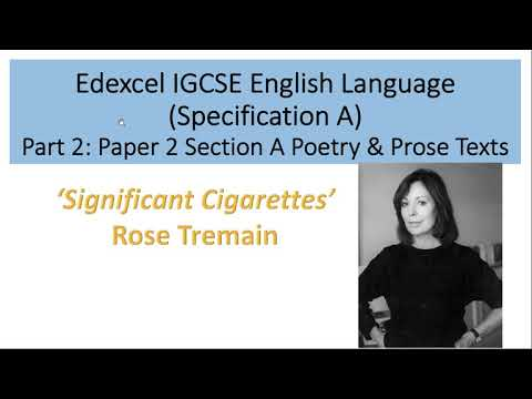 Analysis of 'Significant Cigarettes' by Rose Tremain