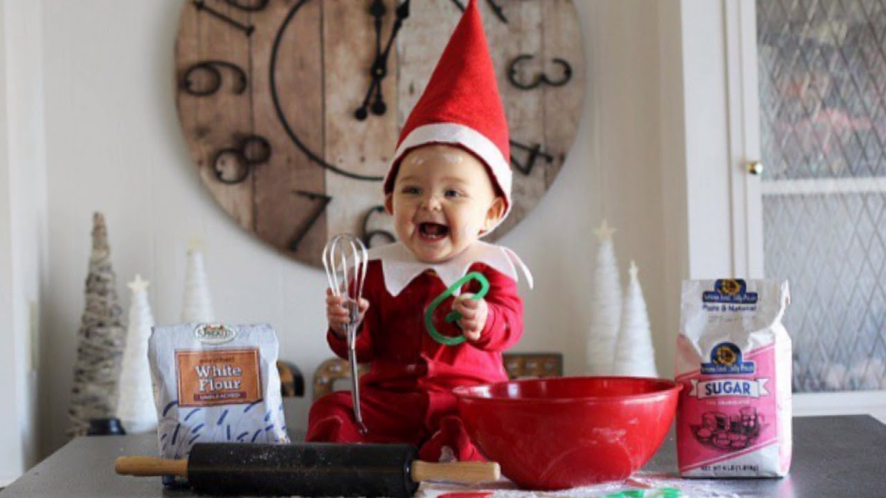 8f720473d Baby Dresses Up As 'Elf On The Shelf' And It's Adorable - YouTube