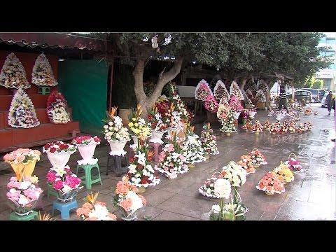 L'activité des fleuristes à l'occasion du Nouvel an 2016