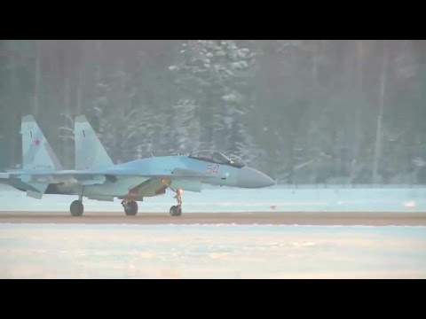 Russia MOD - 4 New Su-35S Stealth Fighters Arrived At Republic Of Karelia [720p]