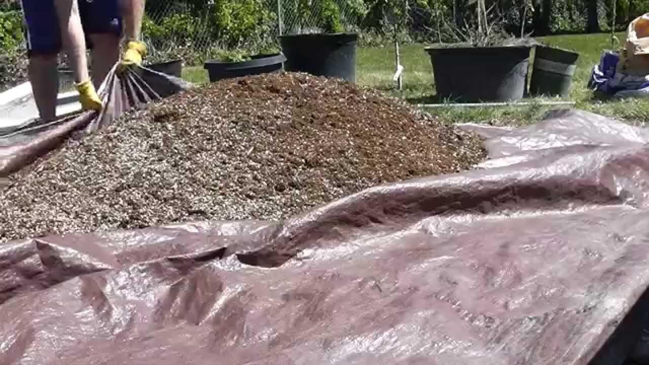 Make your own raised bed garden mix in bulk