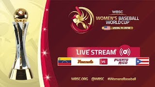 Venezuela v Puerto Rico - Women's Baseball World Cup 2018
