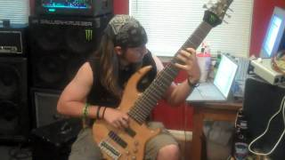 7 string bass mowgli sweepie riff veil of maya