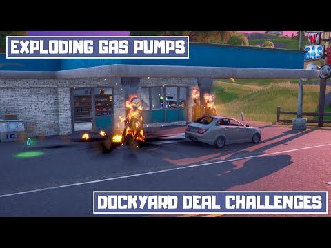 Destroy Gas Pumps In Different Matches! Gas Pump Locations! - Dockyard Deal Chapter 2