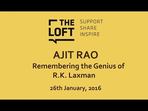 Talk | Ajit Rao: remembering the genius of R. K. Laxman