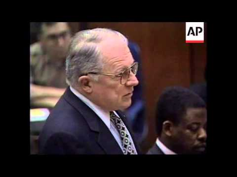 USA: OJ SIMPSON TRIAL: COURTROOM CLASH