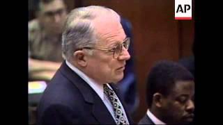USA: OJ SIMPSON TRIAL: COURTROOM CLASH